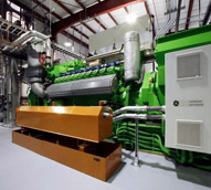 Four GE Jenbacher J420 engine-generator sets produce 6.5 megawatts of power. A single megawatt is enough to power 300 family homes. The methane gas used to power the equipment would have been wasted by being release into to atmosphere as a potent greenhouse gas.